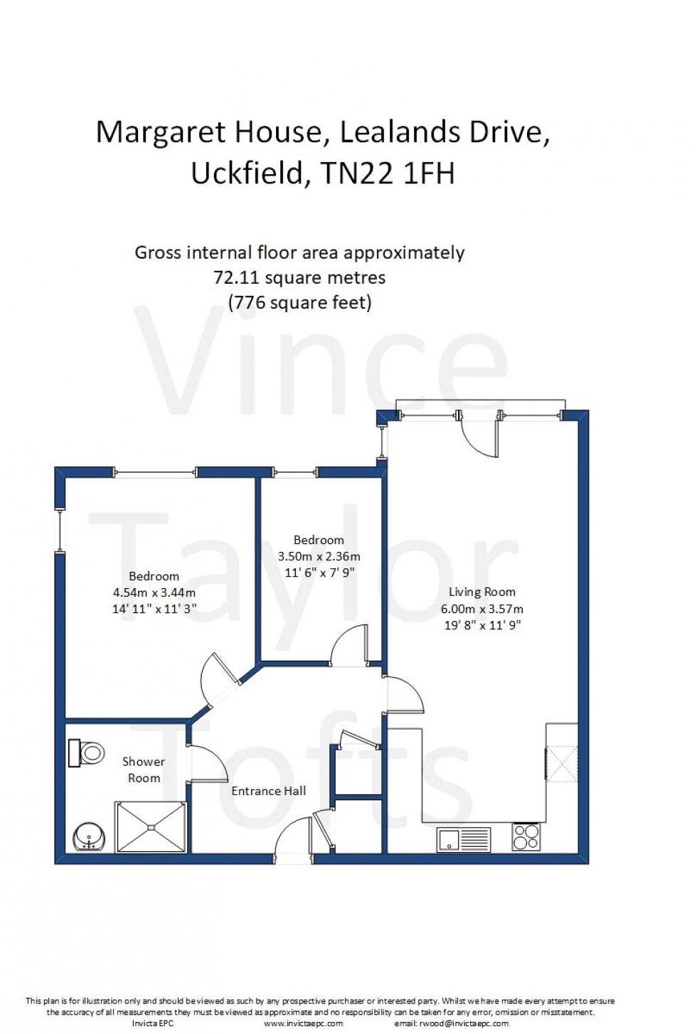 Floorplan for Lealands Drive, Uckfield, TN22